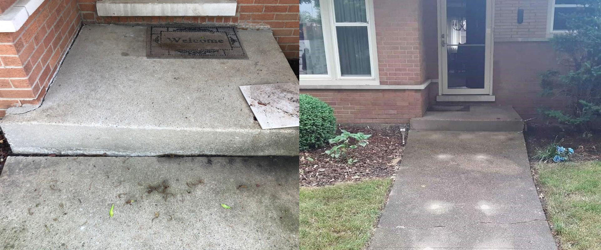 Uneven concrete can be raised
