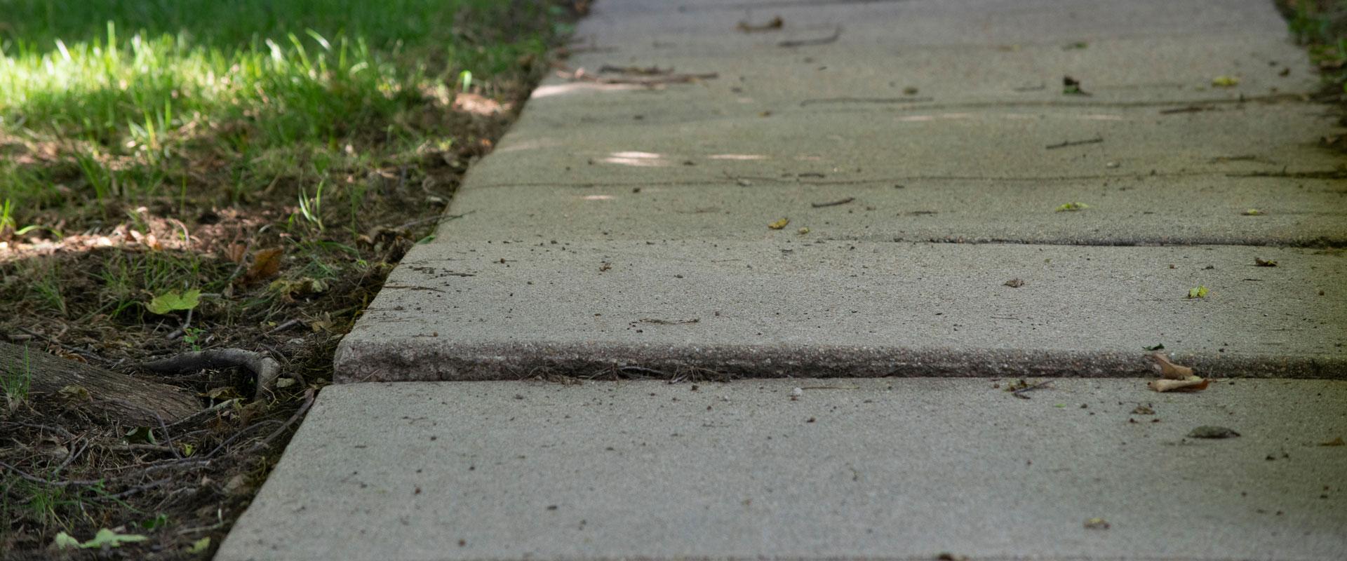 Uneven concrete can be dangerous